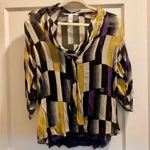 DIANE VON FURSETENBERG geometric blouse